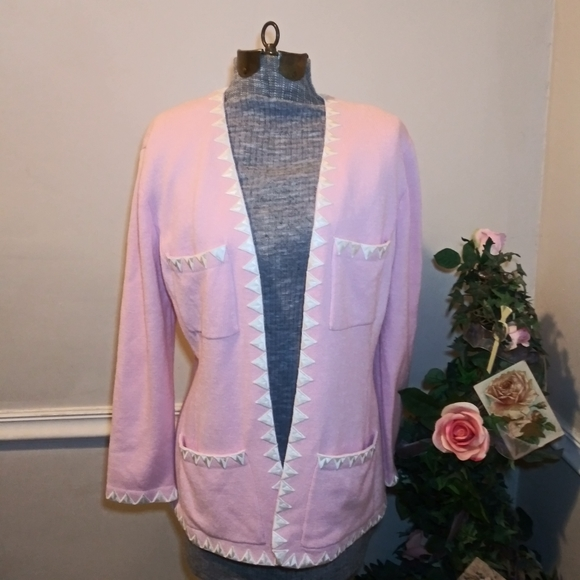 Vtge St.John Sportswear Pink Santana Knit Jacket